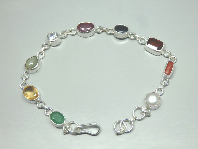 GJSPC Certified Navratan Bracelet Listed in GEMSTONE